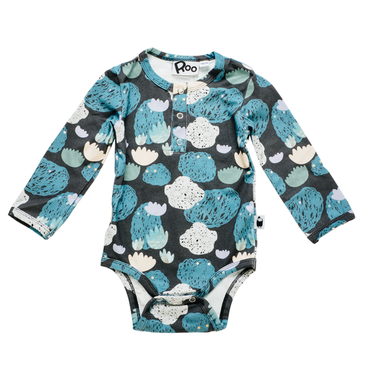 Seascape baby romper, dark