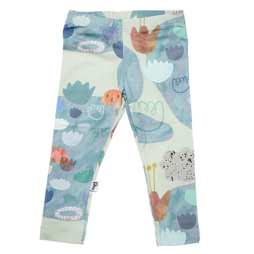 Lost Lilypond leggings, green 56/62-80/86
