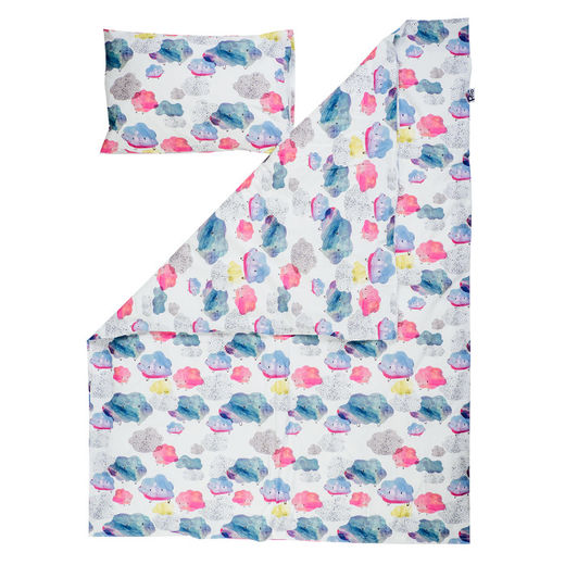 Curious cumulus duvet cover & pillow case